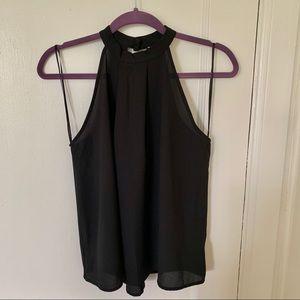 Black Halter Neck Blouse